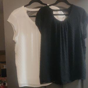 2 DR2 blouses